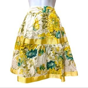 Tempted floral vintage-inspired skirt lined sizeXL